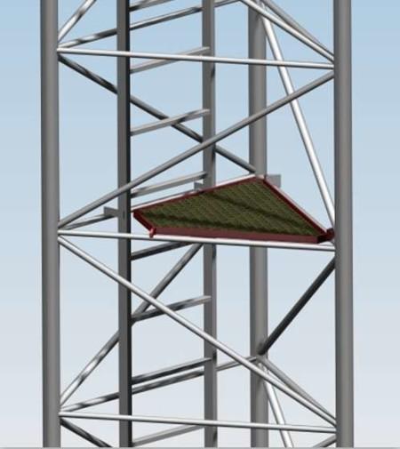 Klapa bezpieczeństwa KBM1000 dla masztów serii M1000