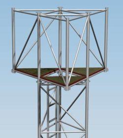 Platforma Separacyjna PSM1000 dla masztów serii M1000