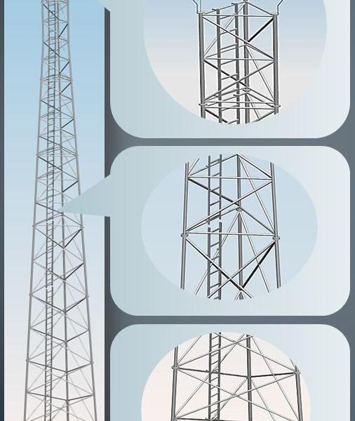 Wieża aluminiowa telekomunikacyjna serii T1000