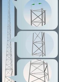Wieża aluminiowa telekomunikacyjna serii T500