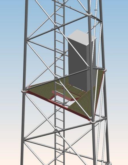 Wewnętrzna platforma wieżowa PWT 1000