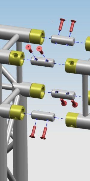Połączenie TYP B (tuleja-łącznik-tuleja)