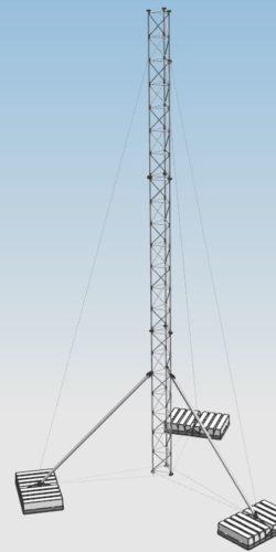 Maszt balastowy kratownicowy sprężony serii BSM500