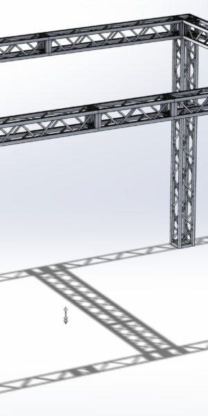 Stoisko Targowe QST250 – 3m x 5m h=3m