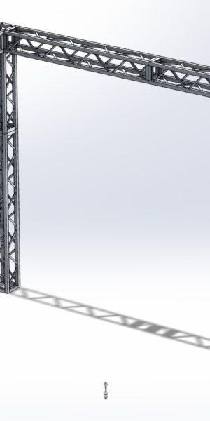 Stoisko Targowe QST250 – 3m x 5m h=3m Narożne