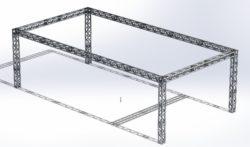 Stoisko Targowe QST250 – 5m x 10m h=3m
