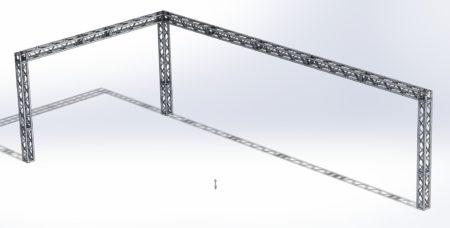 Stoisko Targowe QST250 – 5m x 10m h=3m Narożne