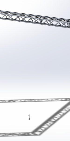 Stoisko Targowe TS290 – 3m x 5m h=3m Narożny