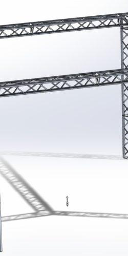 Stoisko Targowe TS290 – 4m x 4m h=3m