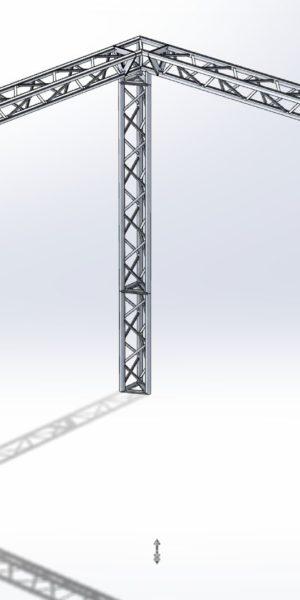 Stoisko Targowe TS290 – 4m x 4m h=3m Narożne