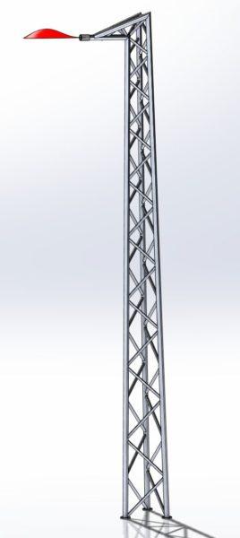 Słup Oświetleniowy Kratownicowy Zbieżny MKZ5025-6