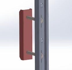 Element mocujący szynę przeciwupadkową ASP do stopni drabiny