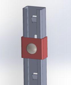 Element końcowy szyny przeciwupadkowej ASP