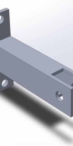 Uchwyt drabinowy naścienny uniwersalny L=150 mm