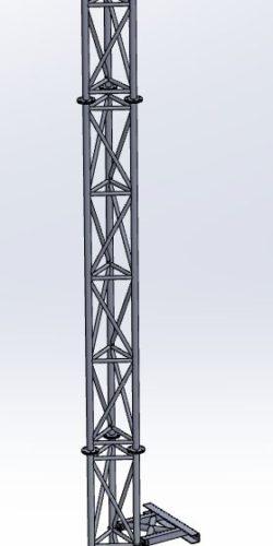 Maszt Przyścienny M250-6-S2-WM