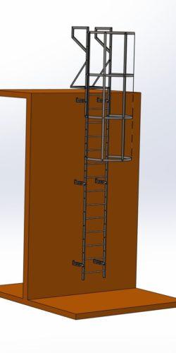 Przykładowy zestaw skompletowany na bazie systemu drabinowego SYDRA500