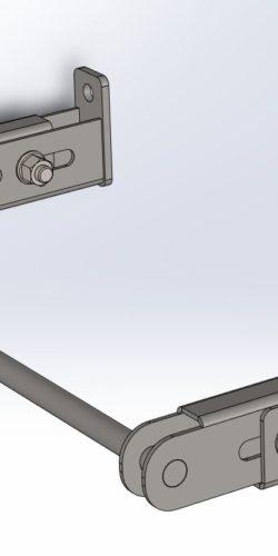 Klamra włazowa naścienna regulowana SYDRA500