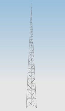 Wieża Aluminiowa T500-25 Odgromowa