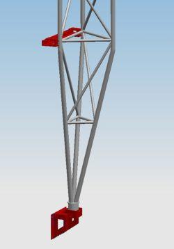 Mocowanie Przyścienne Dystans 100 mm serii MPD100