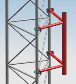Wspornik radiolinii serii WRM dla masztów serii M