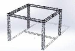 Stoisko Targowe QST250 – 4m x 4m h=3m