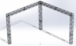 Stoisko Targowe QST250 – 4m x 4m h=3m Narożne