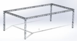 Stoisko Targowe TS290 – 5m x 10m h=3m