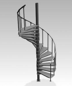 Schody techniczne kręcone SKT200-350