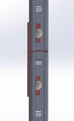 Łącznik szyn systemu przeciwupadkowego ASP
