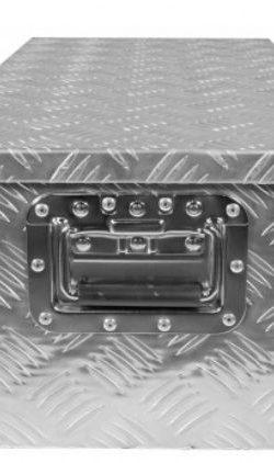 Skrzynia 800x400x300 techniczna aluminiowa ryflowana
