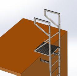 Balkon szczytowy systemu SYDRA500
