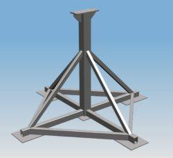 System Fundamentowania Masztu MB-1 – (podstawa zakopowa)