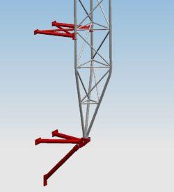 Mocowanie Przyścienne Dystans 600 mm serii MPD600