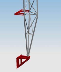 Mocowanie Przyścienne Dystans 300 mm serii MPD300
